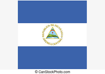 Square Flag Illustration of the country of Nicaragua - A ...