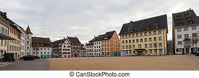 A square in Schaffhausen - Switzerland