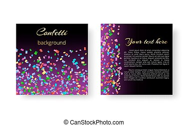 A square leaflet with confetti