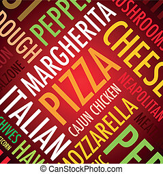 pizza background - a square pizza background