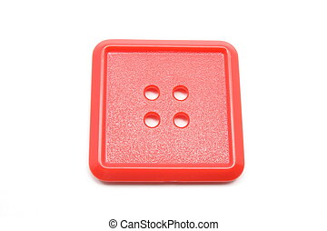 A square red button