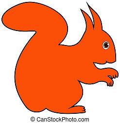 a squirrel's profile