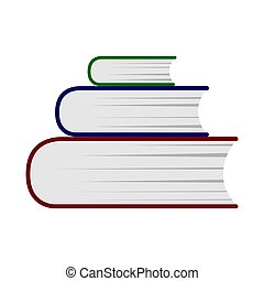 A stack of books. Simple color icon