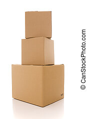 cardboard box parcels - a stack of cardboard box parcels...