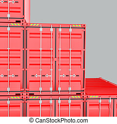 A Stack of Cargo Containers for Overseas Shipping
