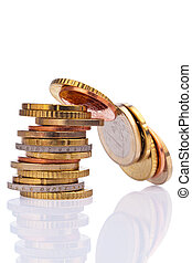 A stack of coins