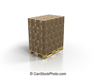 europe-pallets - A stack of europe-pallets on white...
