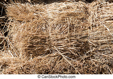 a stack of hay