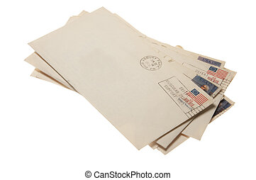 A stack of letters postmarked June 22, 1976 Ashbury Park,...