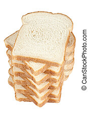 a stack of slice bread