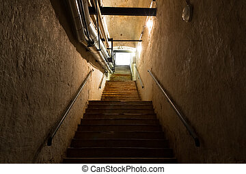 stair in the cellar, an old industrial building