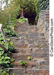 A staircase in stones.