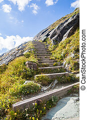 A stairs in Alps