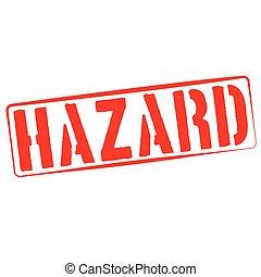 Stamp Illustration on White Background of  the word Hazard