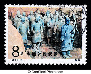 A Stamp printed in China shows Terracotta, 1983