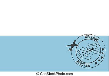 Stamped Illustration of the flag of San Marino
