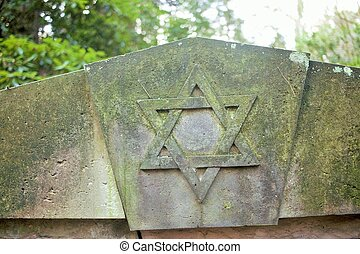 Star of David - A Star of David on a gravestone