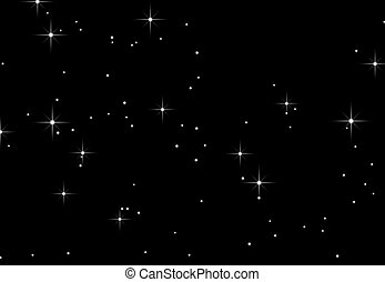 A starry sky - An illustration of stars against a black ...