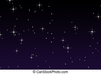 A starry sky - An illustration of stars against a gradient ...