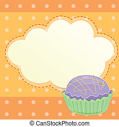 A stationery with a cupcake