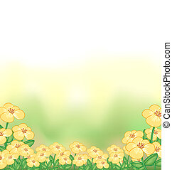 A stationery with a garden of yellow flowers