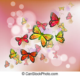 A stationery with a group of butterflies