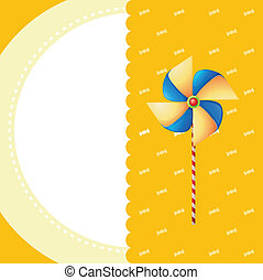 A stationery with a windmill