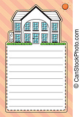 A stationery with an image of a house