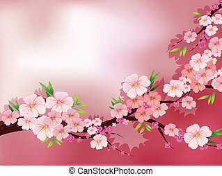 A stationery with fresh pink flowers