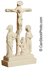a statue depicting Christ