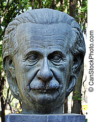A statue of Albert Einstein in Mexico City, Mexico.