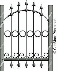 A steel gate