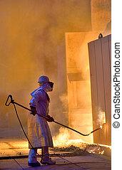 A steel worker