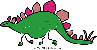 stegosaurus - a stegosaurus dinosaur isolated on white...