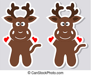 a sticker happy deer with and witho