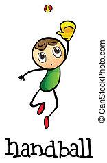 A stickman playing handball - Illustration of a stickman...