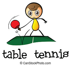 A stickman playing table tennis