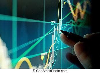 A Stock Trader Checking Chart Fundamentals