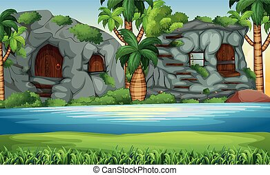 A stone age background