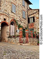 A stone bulit house at Chianti.