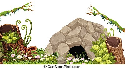 A Stone Cave in Nature