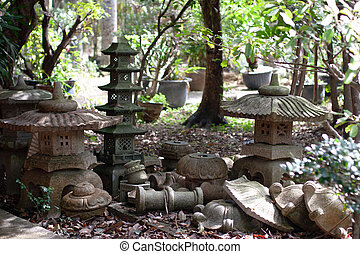 A stone Lantern at the nature garden