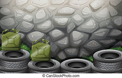 A stonewall