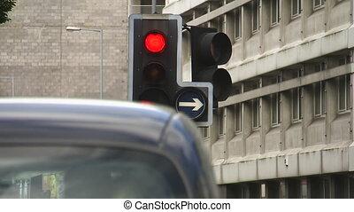 A stop light shot