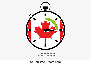 Stopwatch with the flag of Canada