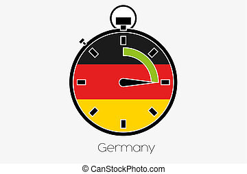 Stopwatch with the flag of Germany