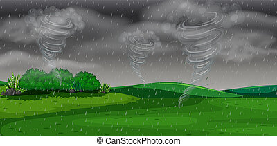 A storm at night