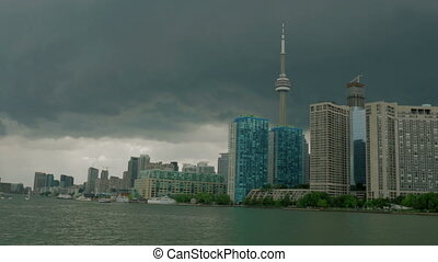 A storm over the Toronto skyline. - Toronto Skyline from...