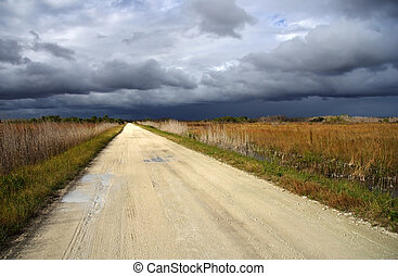 Janes Scenic Highway - A stormy Janes Scenic Highway in...