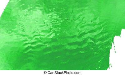 A stream of very beautiful green liquid similar to sugar...